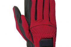 перчатки взрослые красные
